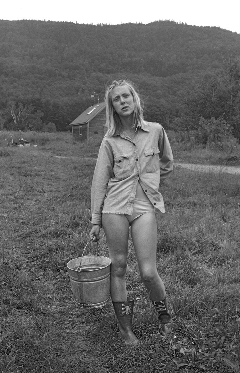 Woman with Pail of Fresh Goats Milk