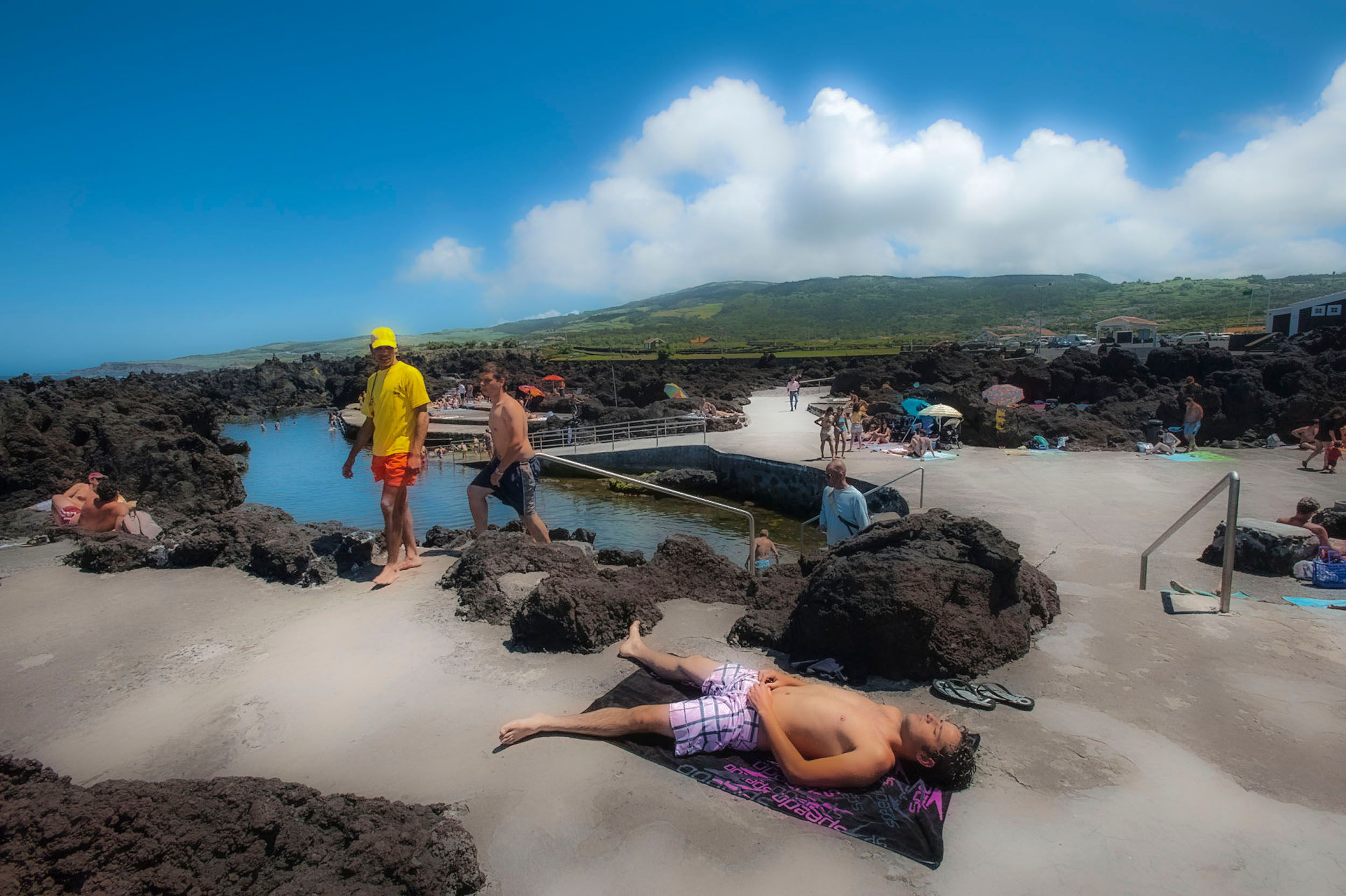 Sunbathing in the Azores