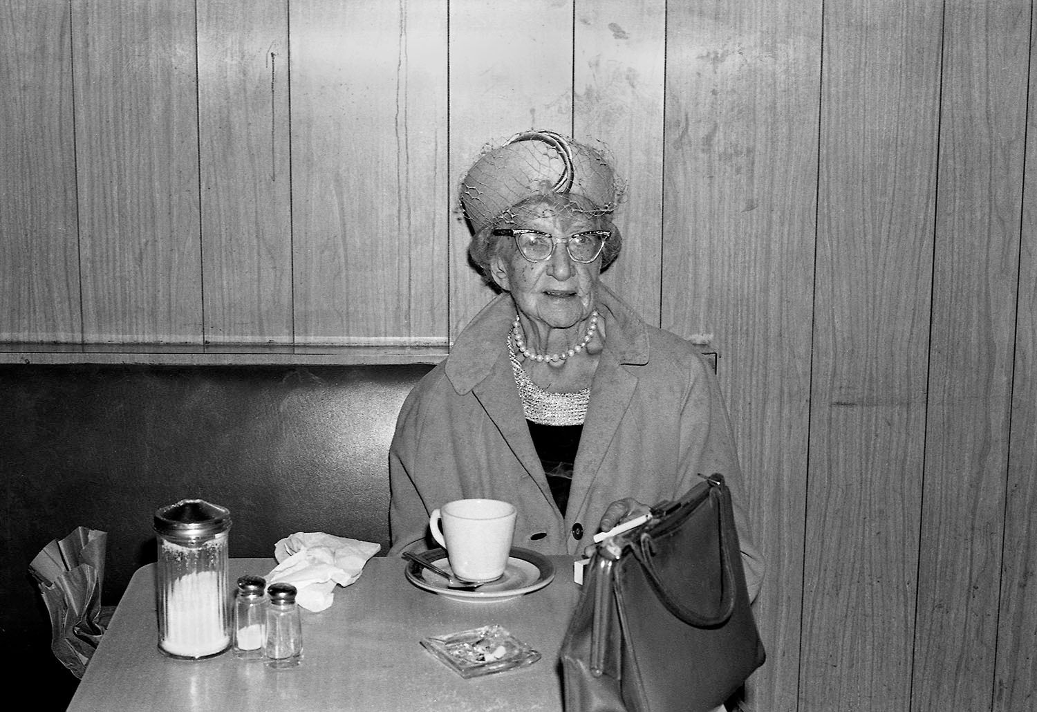 Woman with Cigarette and Coffee