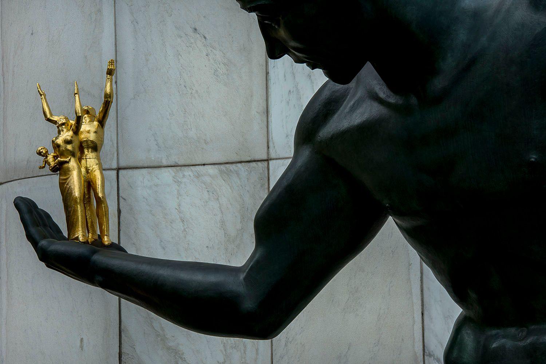The Spirit of Detroit Statue, Detroit, MI