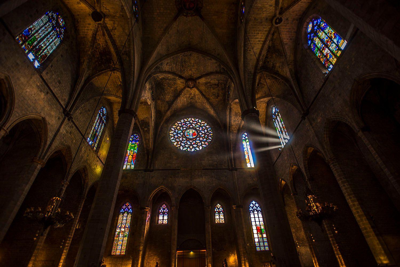 Interior of the Santa Maria del Mar Church