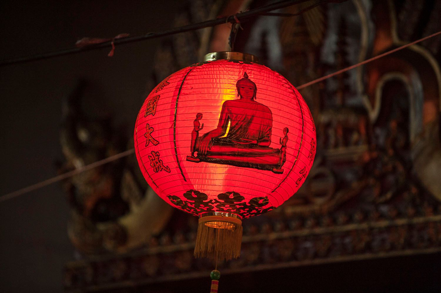 Lamp with Buddha