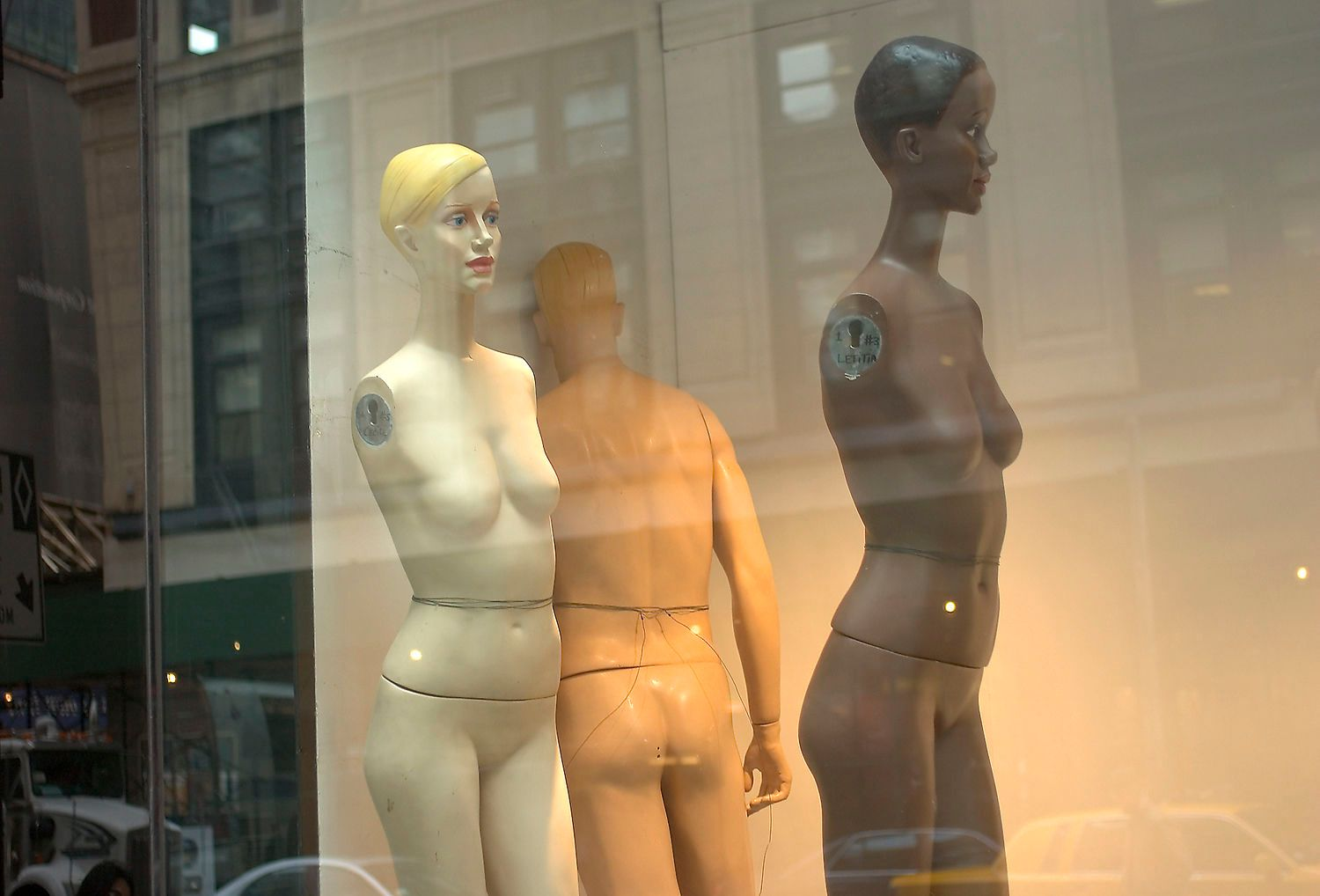 Mannequins in Store Window