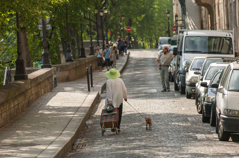People on street in Paris, France