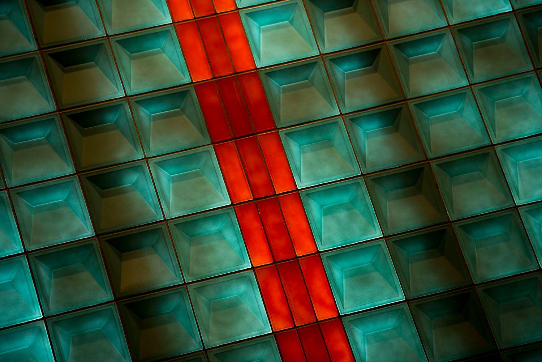 Interior tiles, Detroit, Michigan