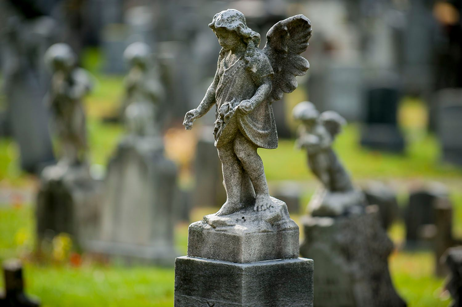 Statues of Children with Wings