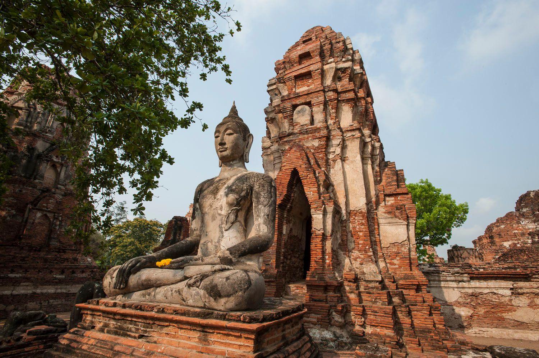 Sitting Buddha Statue, Ayutthaya, Thailand