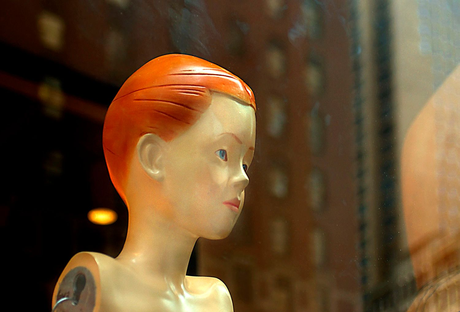 Boy Mannequin with Orange Hair