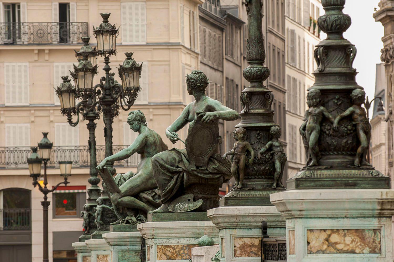 Statues outside Hotel de Ville, Paris, France