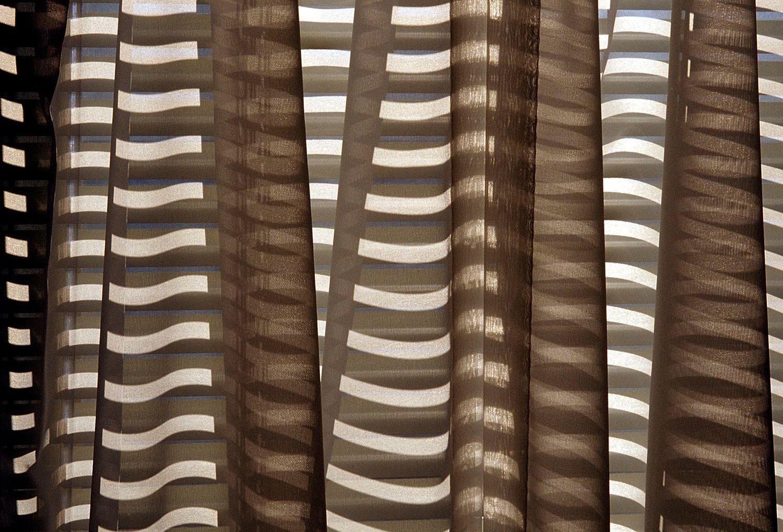 Shadows and sunlight on fabric drape
