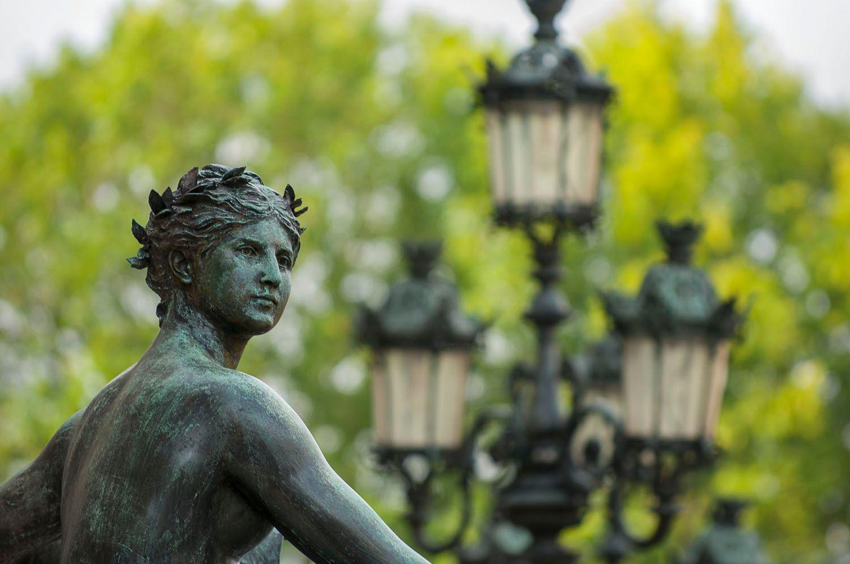 Female Bronze Statue, Hotel de Ville, Paris, France