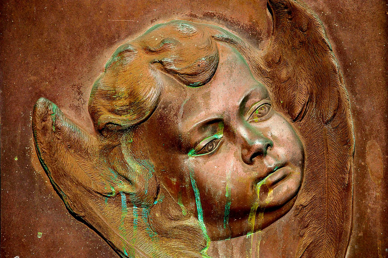 Copper Relief Statue