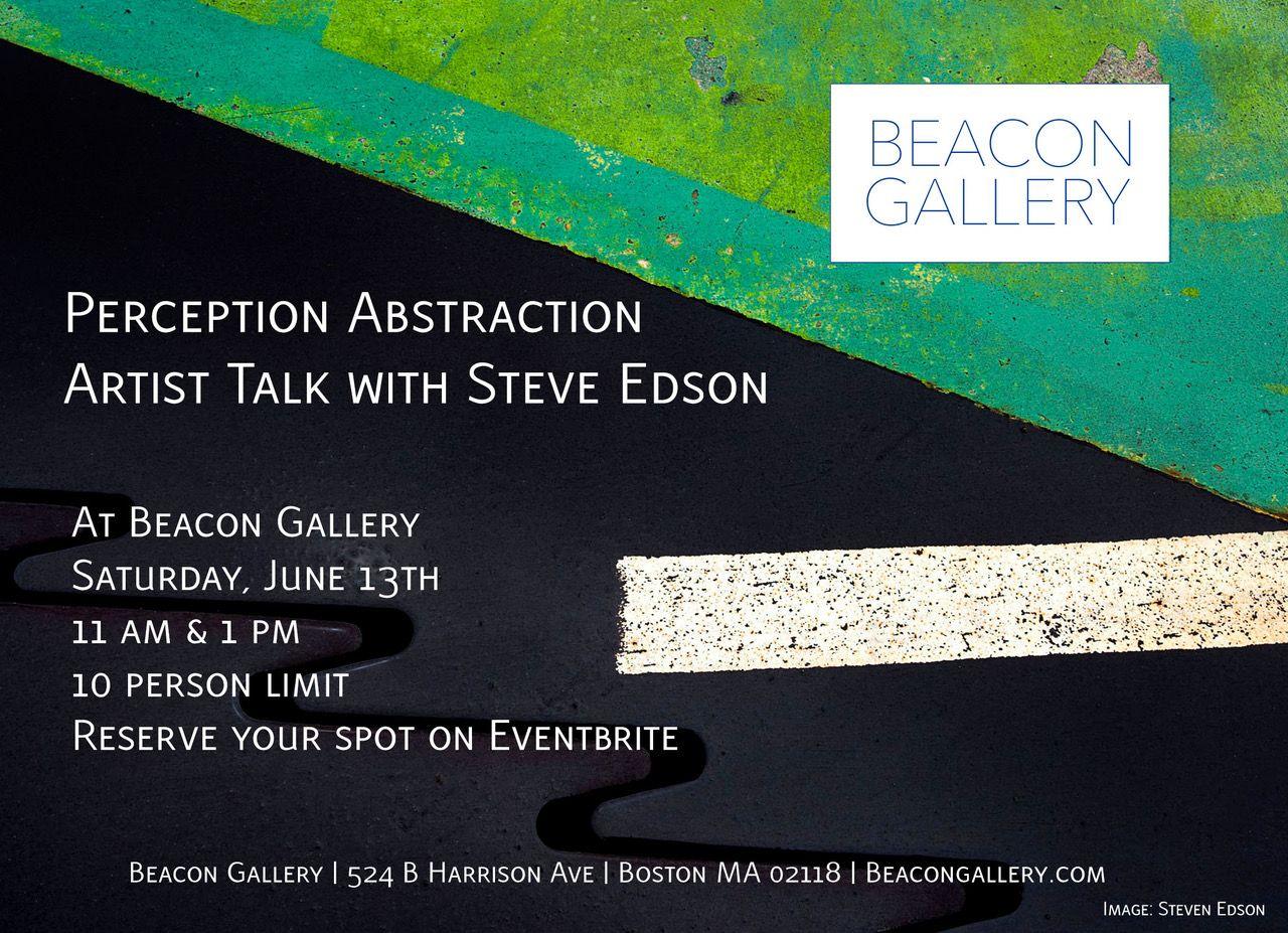 Artist Talk with Steven Edson