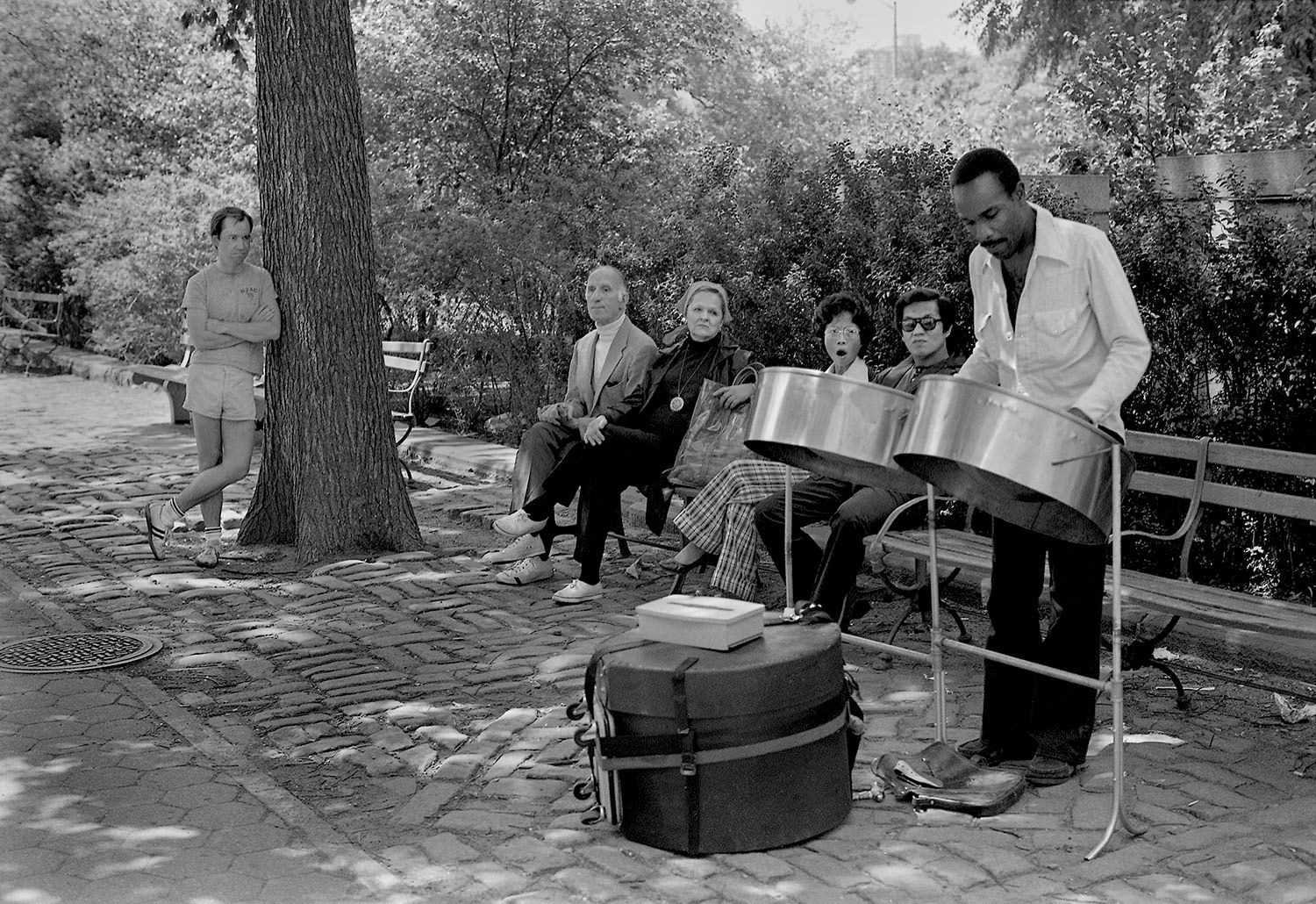 Musician with Steel Drums