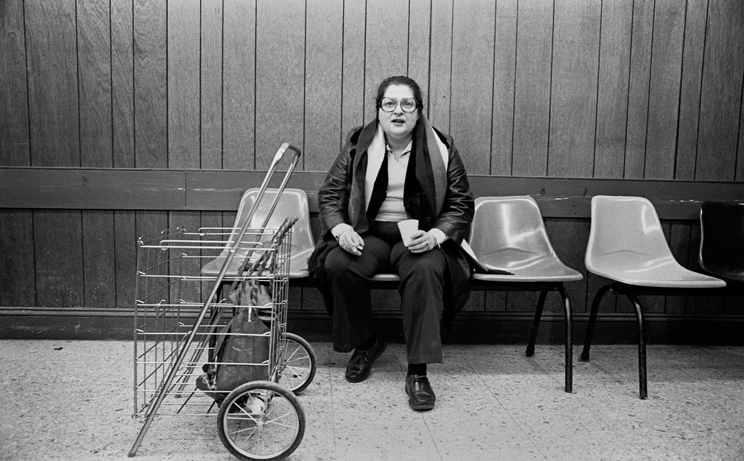 Woman in Laundry Mat, 1970's