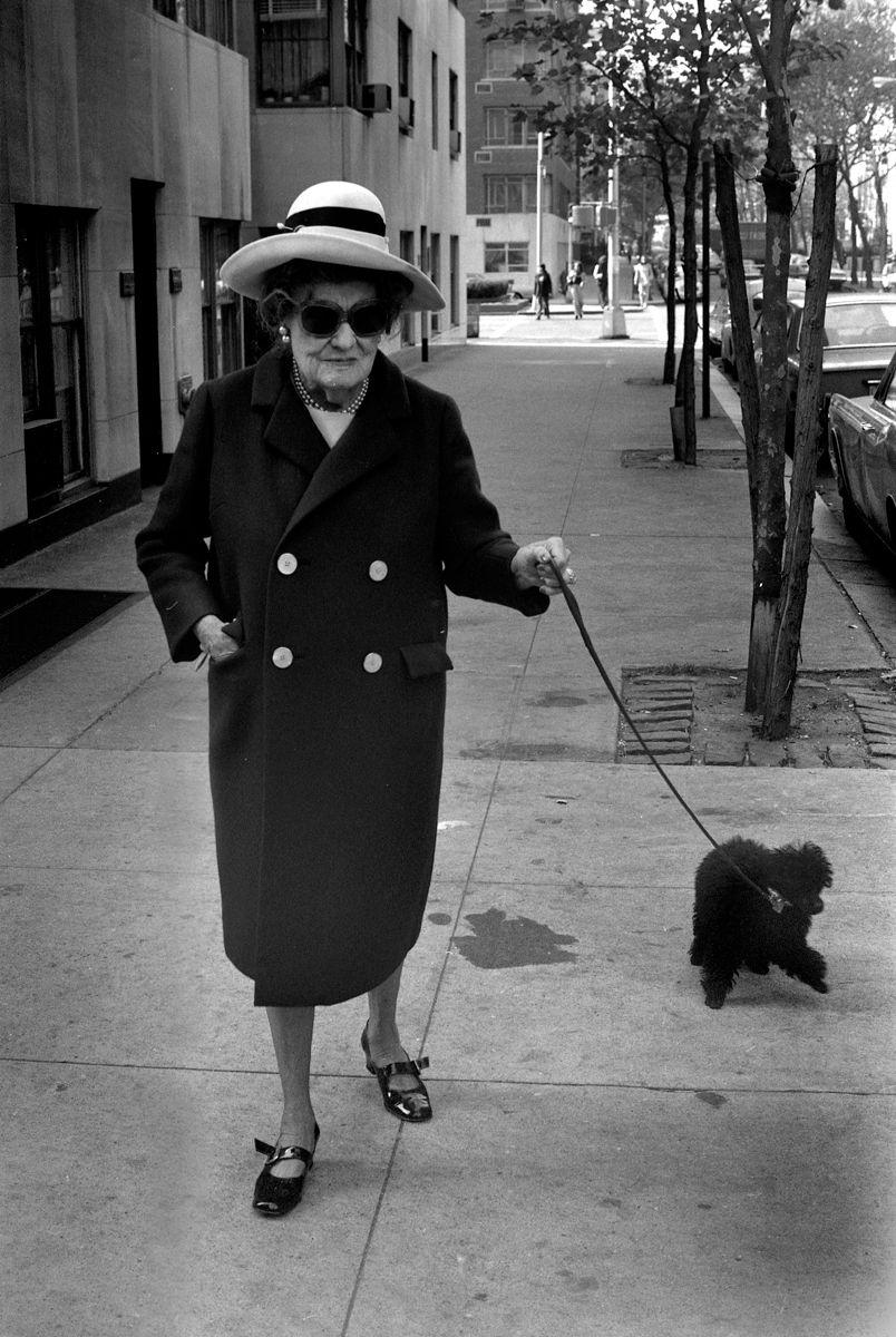 Eastside Lady Walking Small Poodle