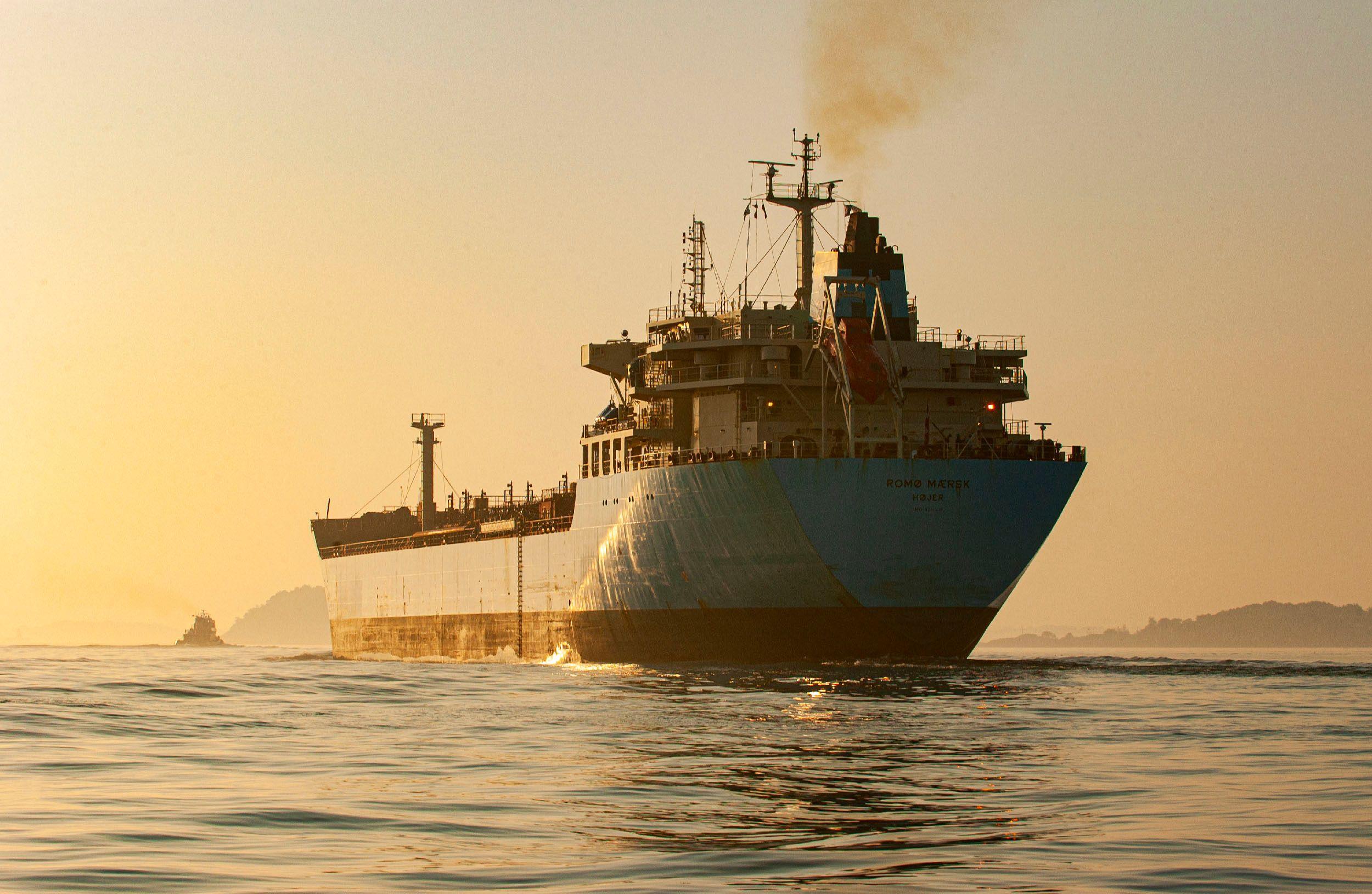Crude oil tanker ship