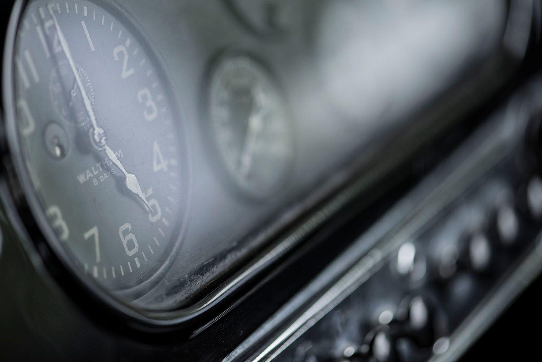 Clock inside 1933 Packard Roadster