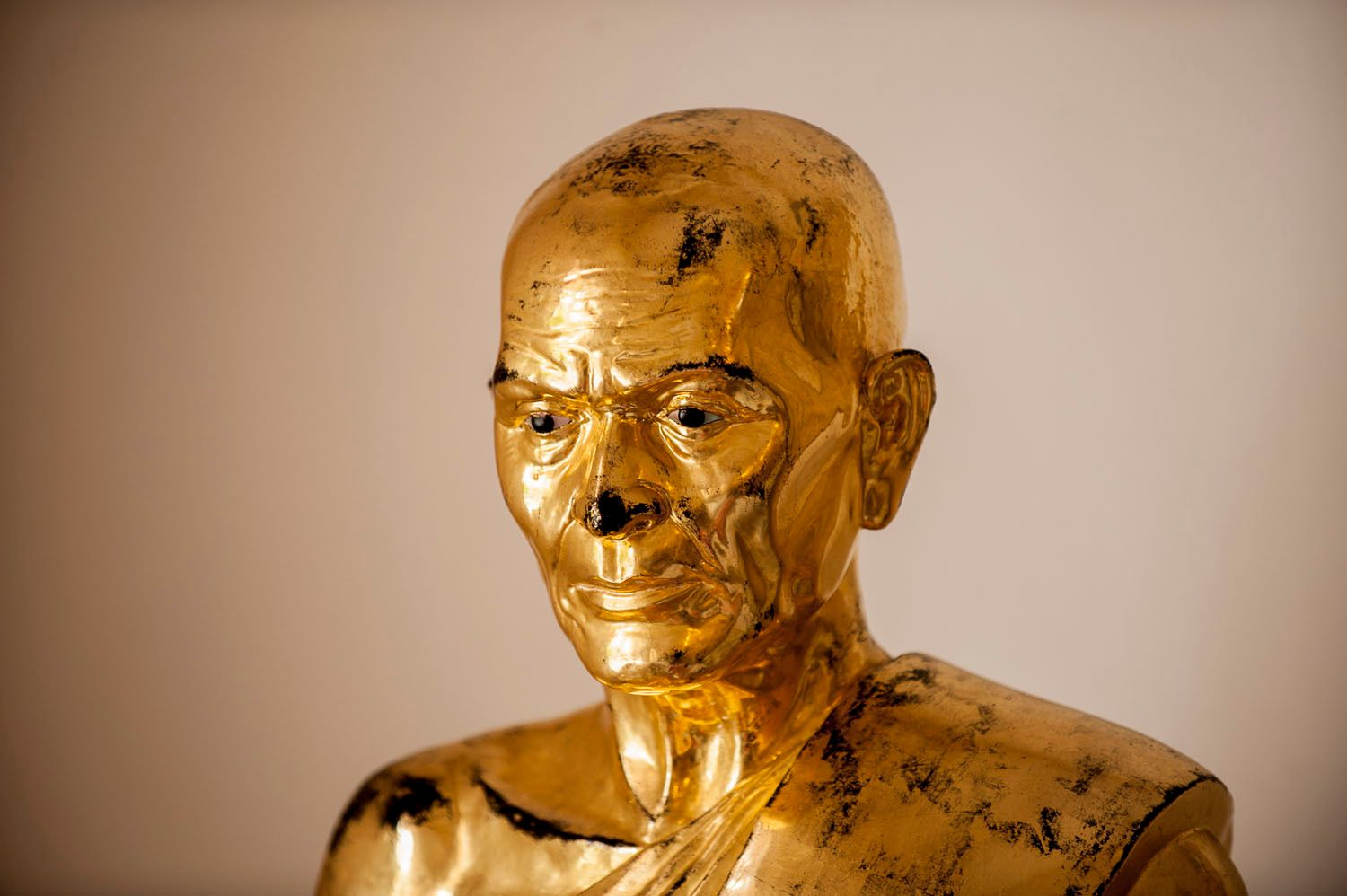 Gold Statue of Buddhist Monk