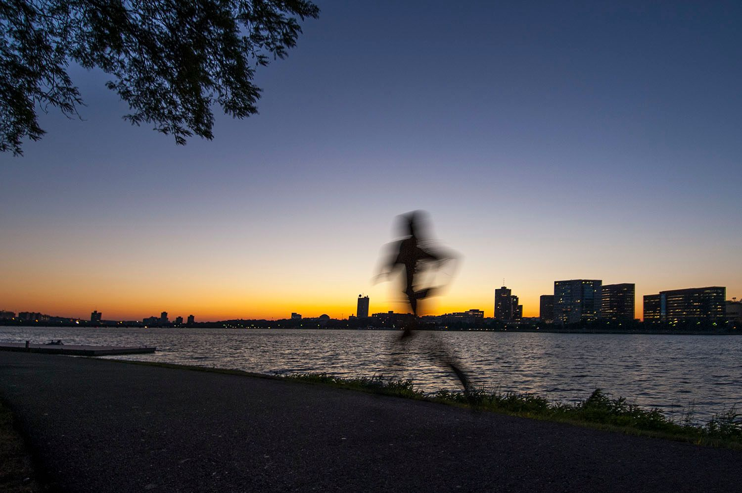 Runner Along the Charles River