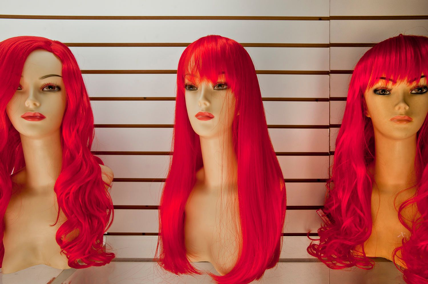 Mannequins with Magenta Hair