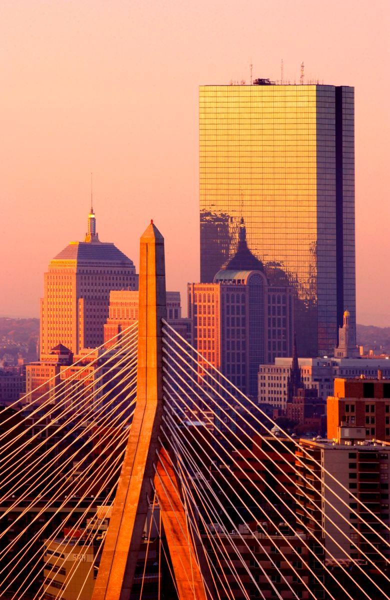 Boston's Copley Square During Sunset