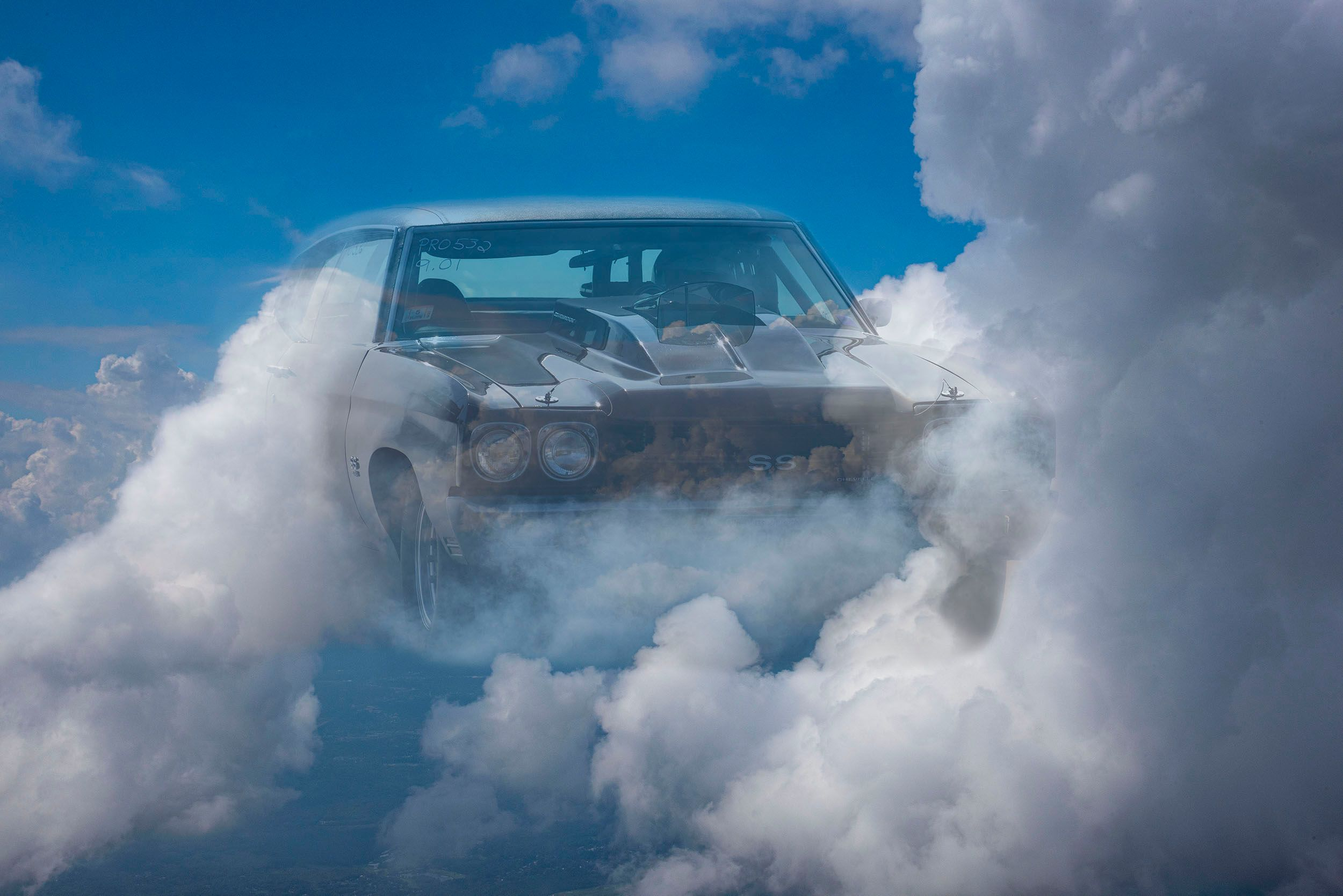 Car amongst the Clouds