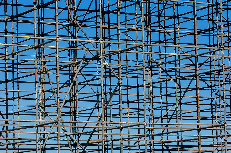 Grid of scaffolding