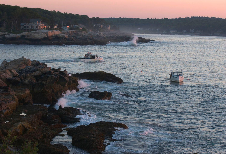 Lobster Boats at Dawn