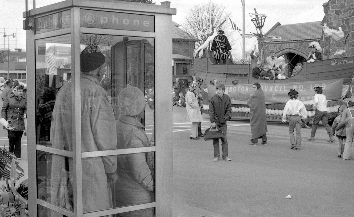 Thanksgiving Day Parade and Telephone Booth