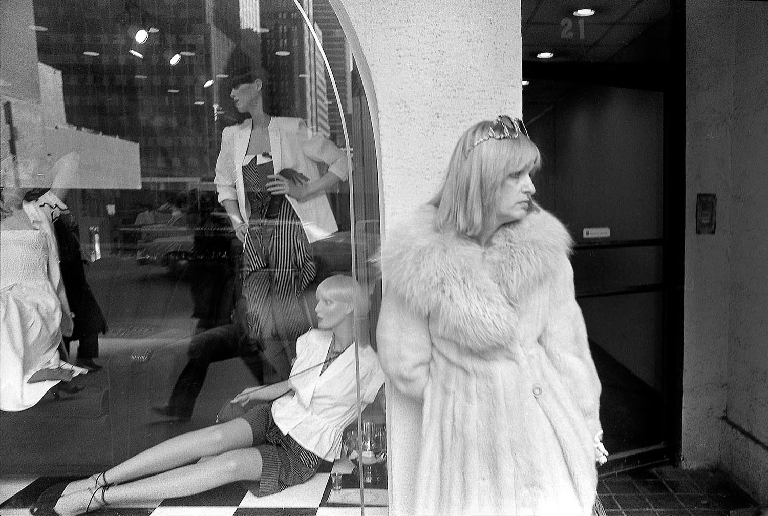 Woman and Window and  Mannequins