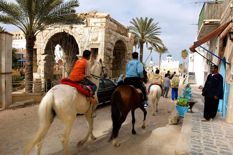 Arch of Marcus Aurelius. Tripoli, Libya
