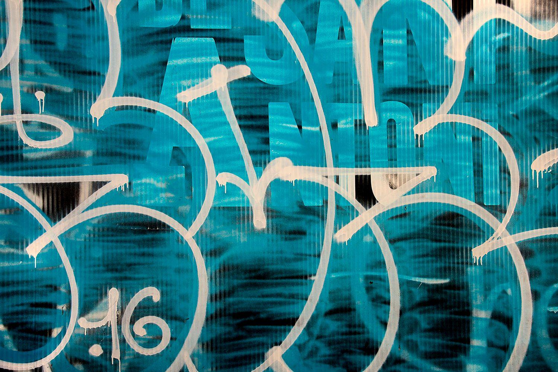 Spray Painted Graffiti