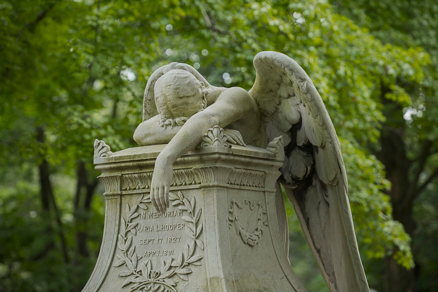 Cemetery Angel Statue, Hingham, MA