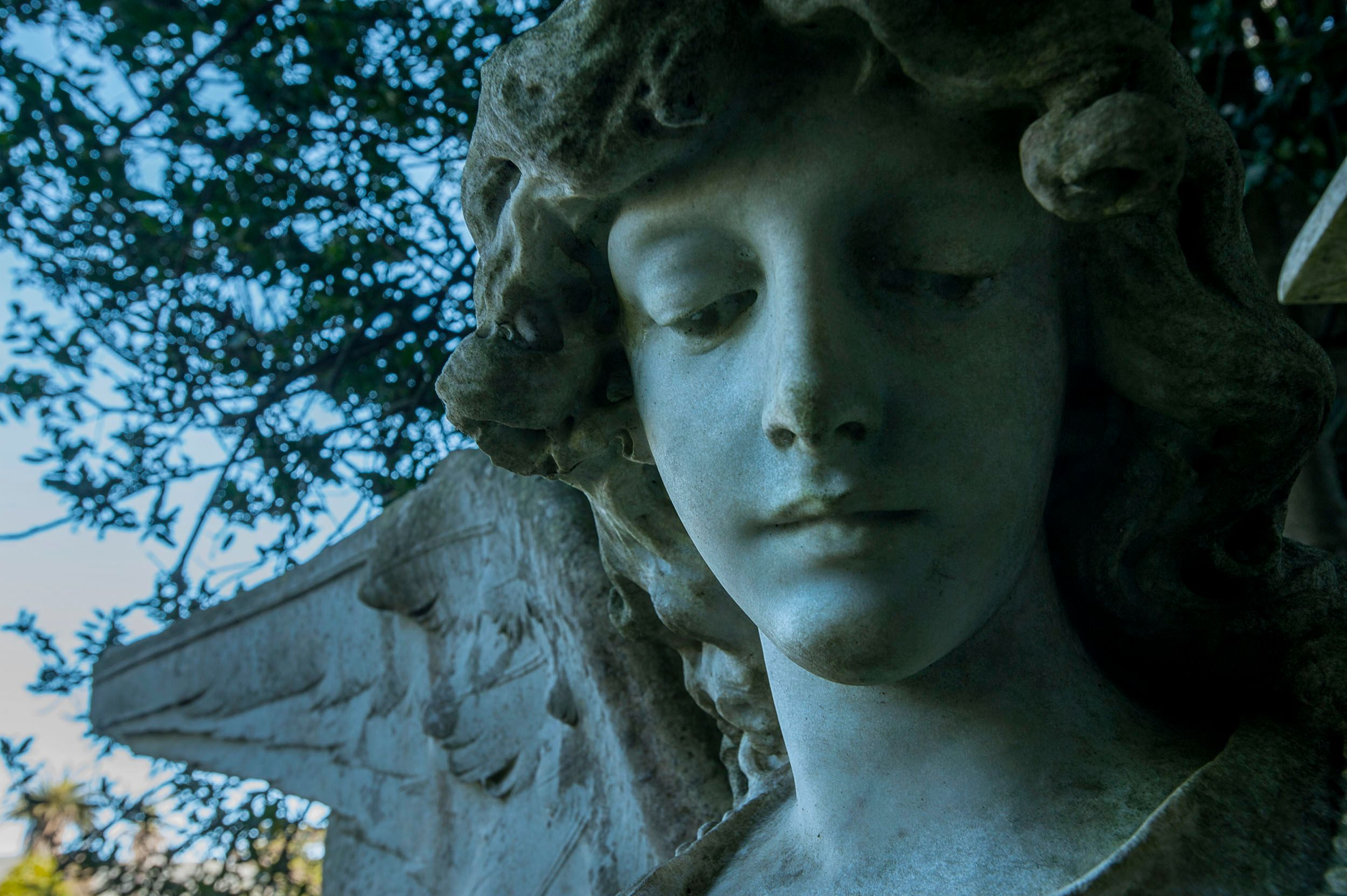 Cemetery Statue of a Female Angel