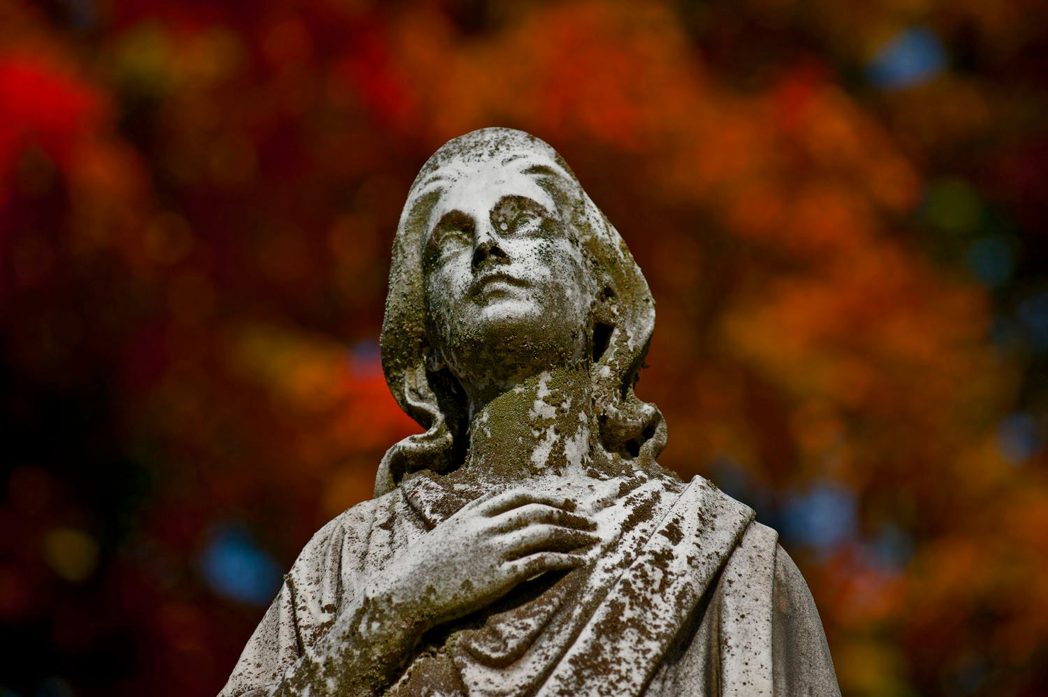 Female Cemetery Statue