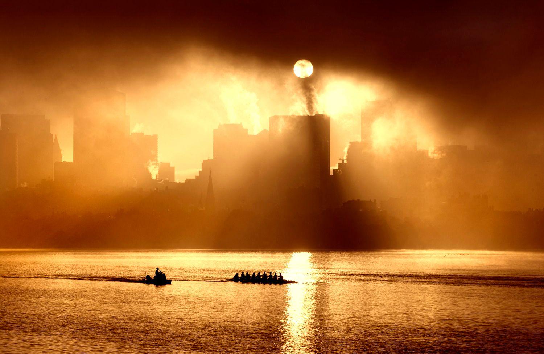 Sunrise thru the Morning Fog