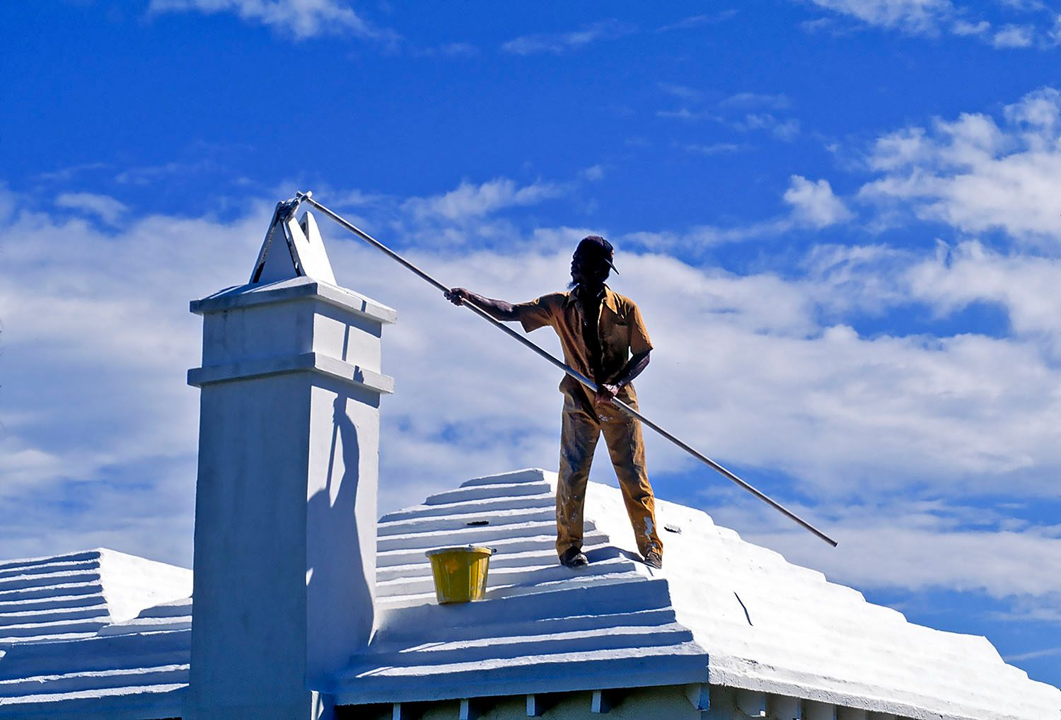 House Painter on Roof
