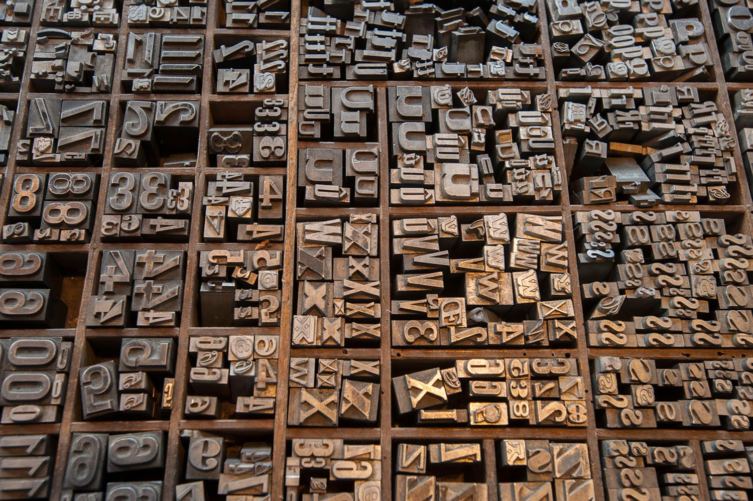 Type faces for block printing