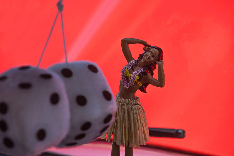 Dashboard Hula Dancer with Dice
