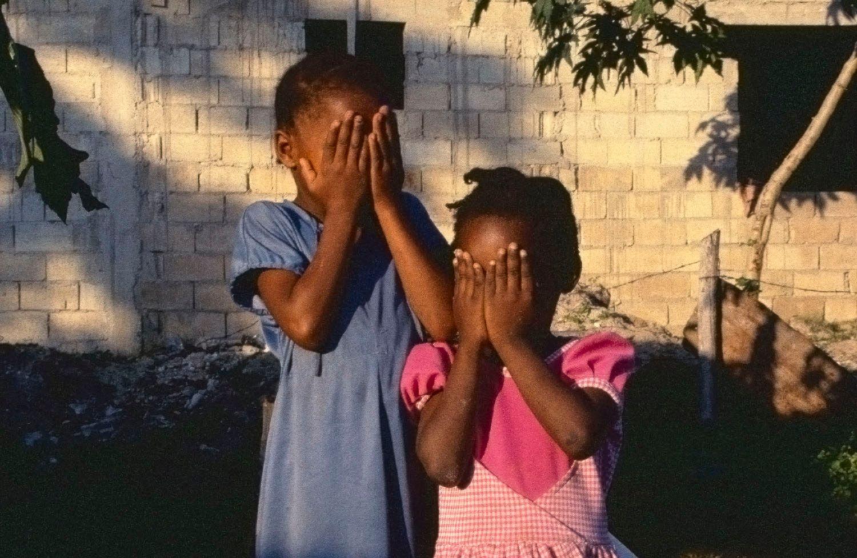 Girls Hiding their Faces