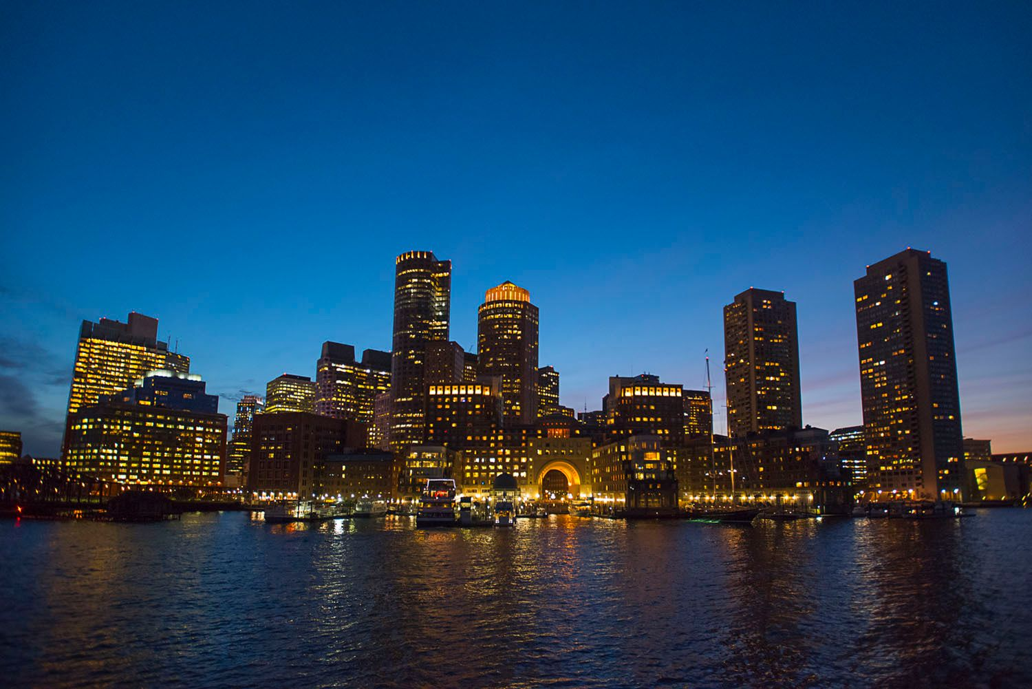 Boston Harbor Buildings