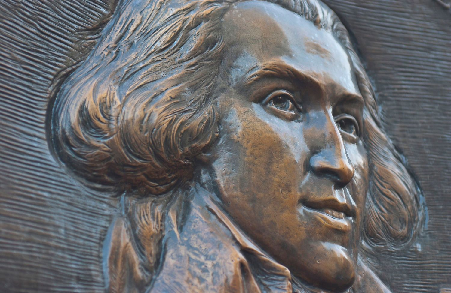 Bronze Relief Plaque of Charles Bulfinch