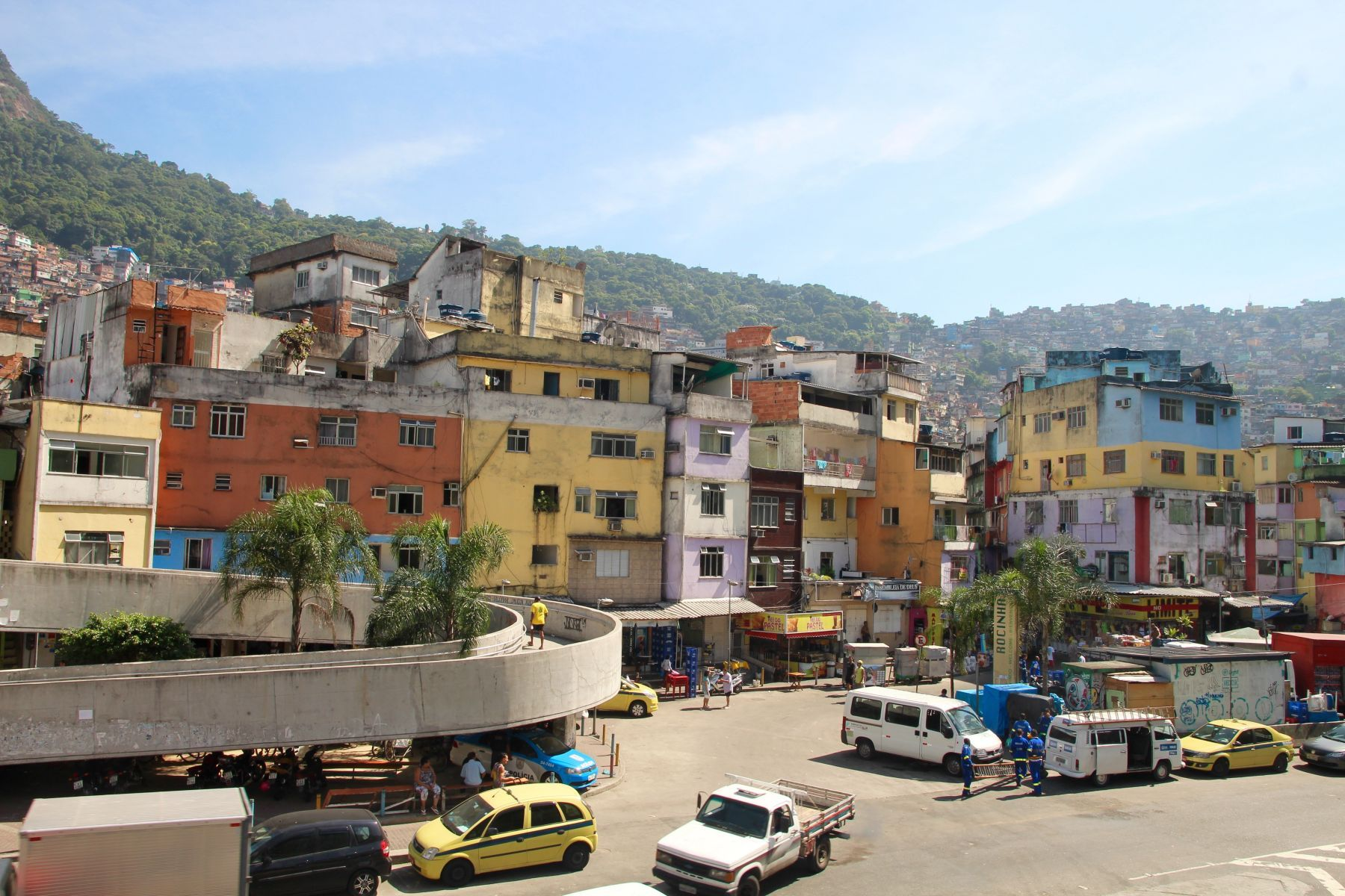 Rocinha favela is the largest and most well known of all of Rio's favelas.