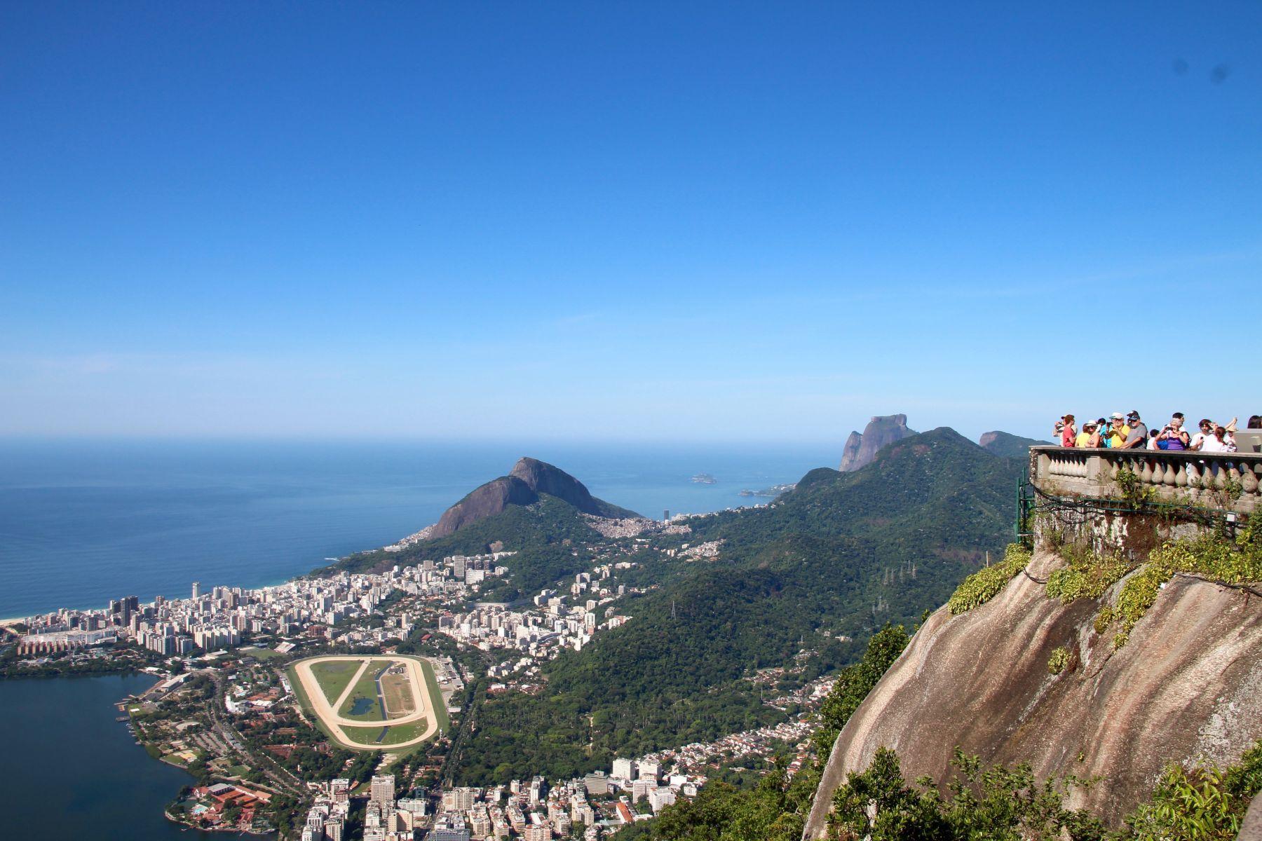 View of Rio de Janeiro from Christo Redentor.