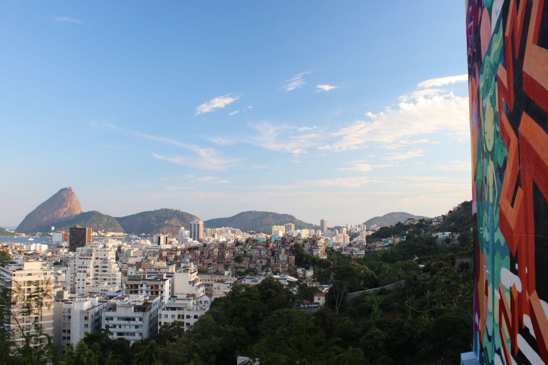 View of Rio from the Bohemian neighborhood of Santa Teresa.