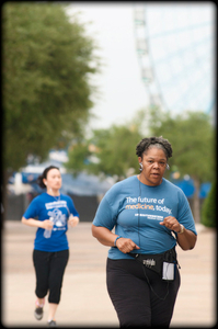 Woman walking for a cure