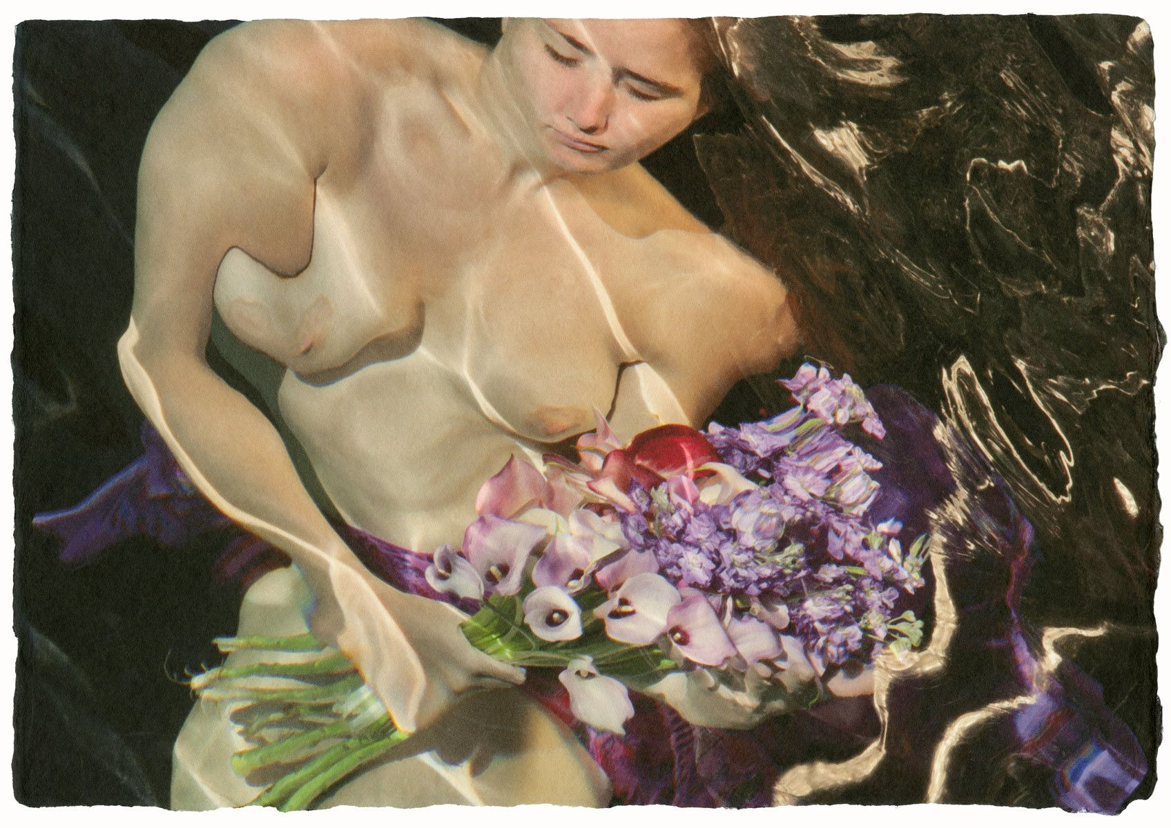 """Reflecting on the edge #671  """"Girl with Purple Bouquet"""""""