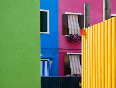 Colorblock Homes in Burano