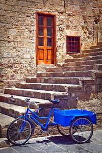 Blue Bike in Rhodes